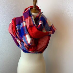 NWT BP Red, White & Blue Plaid Scarf/Wrap
